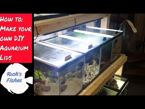 🐟how to:  🐠DIY sliding aquarium glass fish tank lids/tops🐠🐡