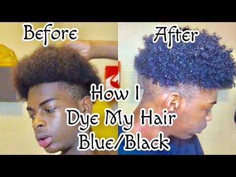 HOW I DYED MY HAIR BLUE/BLACK