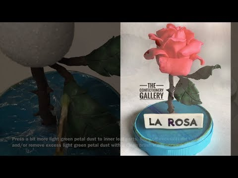 Rose / Loteria Card Cake Topper Timelapse Tutorial: Modeling Chocolate Leaves and Petal Base