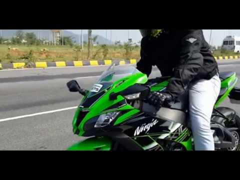 ninja vs other race bike ( stunts and race)