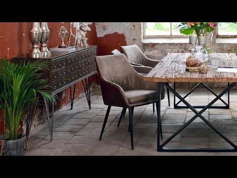 Kensington Industrial Reclaimed Wood Dining Table | Modish Living