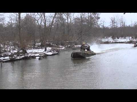 Phowler Sneak Boat in the West Tennessee Bottoms