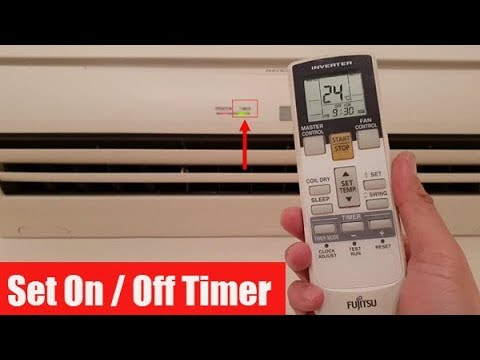 Fujitsu Air Conditioner: How to Set the Timer On / Off (Remote Control)