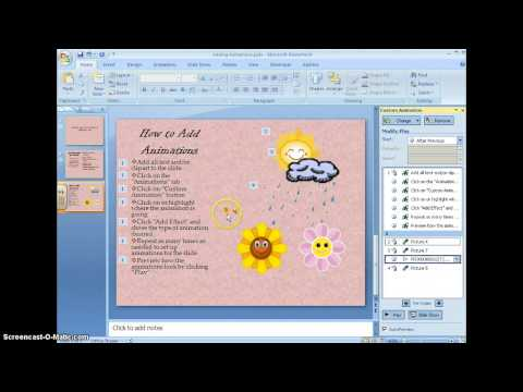 Adding Animations to PowerPoint 2007