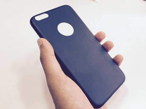 Spigen Leather Fit Midnight Blue Case iPhone 6s/6 Plus Unboxing & Overview (INDIA)