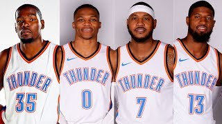 What If Kevin Durant Never Left The OKC Thunder To Join The Warriors? Durant, Westbrook, Melo, & PG