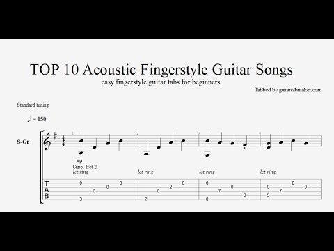 TOP 10 acoustic fingerstyle guitar tabs - PDF - Guitar Pro