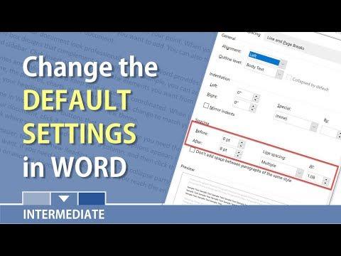 Word: Change the default font, margins, and line spacing by Chris Menard