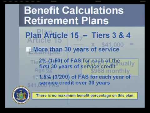 What Is My Retirement Plan and How Is It Used to Calculate My NYS Pension?