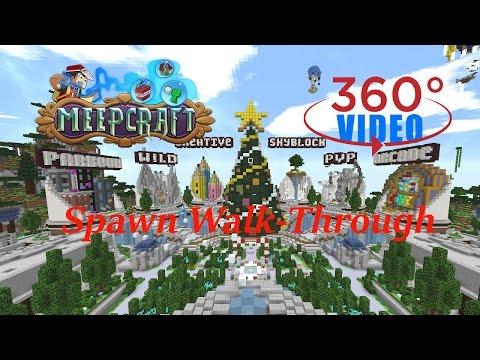 Minecraft 360 Degree Video | Meepcraft Winter Wonderland