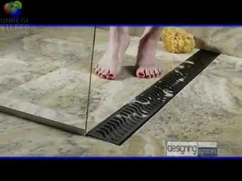 Linear Shower Drains - Designing Spaces