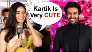 Ananya Panday BLUSHES When Asked About BOYFRIEND Kartik Aaryan At Student Of The Year 2 Trailer