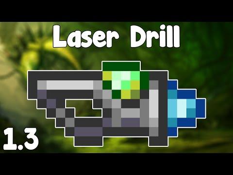 Terraria 1.3 - Laser Drill , Zap Them Rocks! - Terraria 1.3 Guide New Mining Laser!
