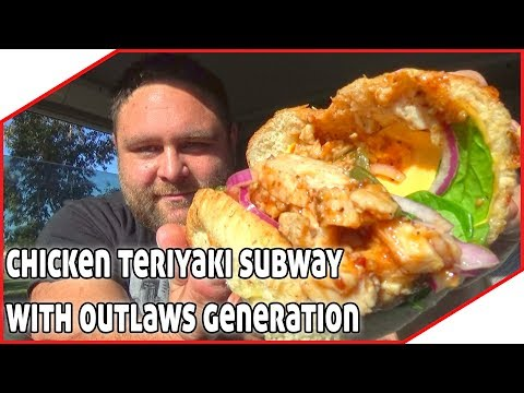 Chicken Teriyaki Subway Sandwich Review With Outlaws Generation 😄