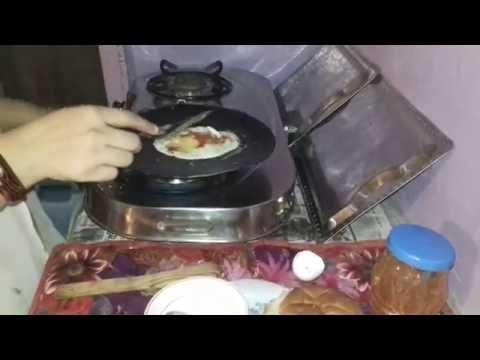 homemade egg burger