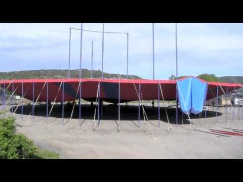 BIG TENT BUILD - Time Lapse