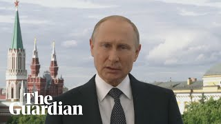 Vladimir Putin welcomes football fans before World Cup 2018