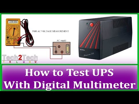 How to Test UPS With Digital Multimeter | How to use Multimeter