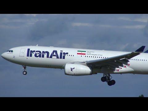 STORMY Landing Iran Air A330-200 EP-IJB at Hamburg