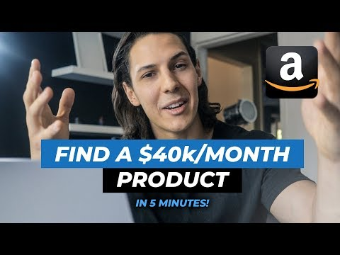 CRAZY Amazon FBA Product Research Tutorial - $40K/MONTH Product in 5 MINUTES!
