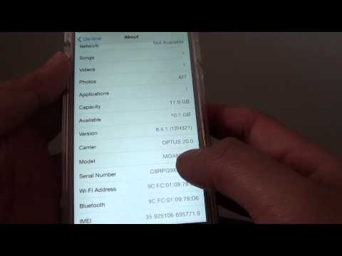 iPhone 6: How to Find the Serial Number