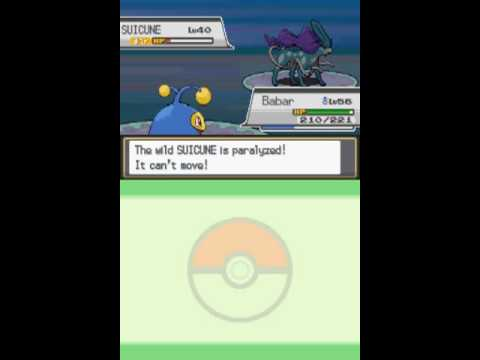 Let's Play Pokemon Heart Gold! Capturing Suicune!