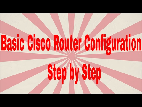 Basic Cisco Router Configuration Step by Step | CCNA 200-125 (Routing & Switching)