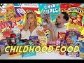 Eating ONLY CHILDHOOD FAVOURITES For 24 HOURS FOOD CHALLENGE
