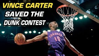 How Vince Carter Saved the NBA DUNK CONTEST