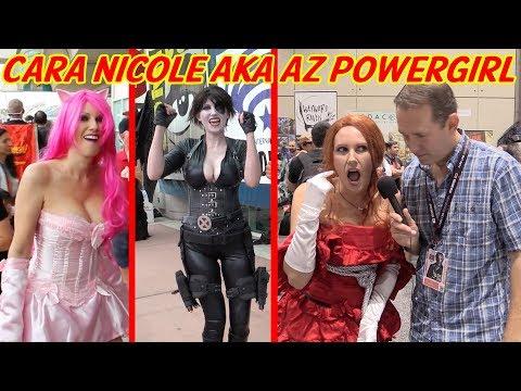 Cara Nicole AZ Powergirl Cosplay at Comic-Con 2017