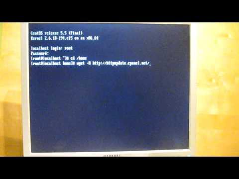Centos 5.5 Post Minimal Install - error after