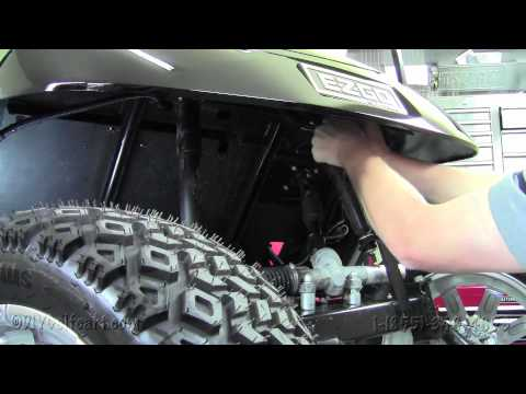 EZGO Diamond Plate Front Shock Shield Cover | How To Install Video | Golf Cart Accessories