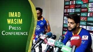 PSL 2017 Playoff 2: Imad Wasim Press Conference