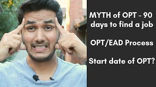 Download Biggest Myth of OPT - 90 days to find a job | EAD card process | MS in USA Video