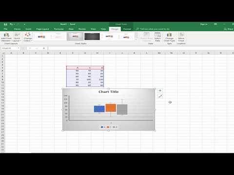How to Create box and whisker Chart in Microsoft Excel 2018