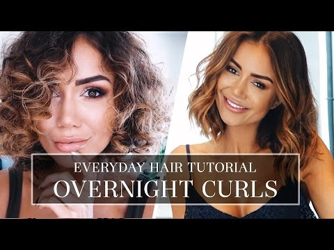 HAIR TUTORIAL - HOW I DO MY CURLY HAIR - LONG BOB HAIR STYLE TUTORIAL FOR A TEMPORARY CURL