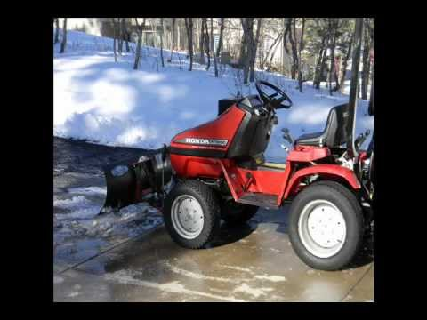 Honda RT Tractor Front Hitch Fab on RT 5000 for Snow Plow Blade