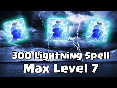 300 Lightning Spells | Clash of Clans |