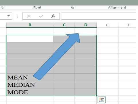 How to calculate mean median and mode for ungrouped data in excel