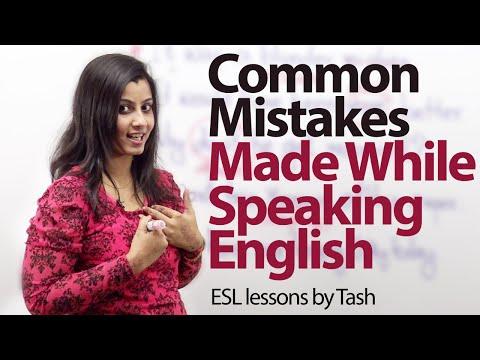 Common Mistakes that we make while speaking English - Free ESL lesson