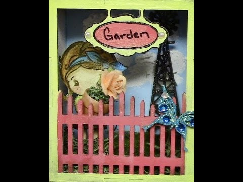 SaCrafter's Wooden garden gate shadow box tutorial part II