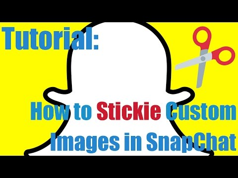How to Stickie Custom Images in Snapchat - Scissors Tutorial