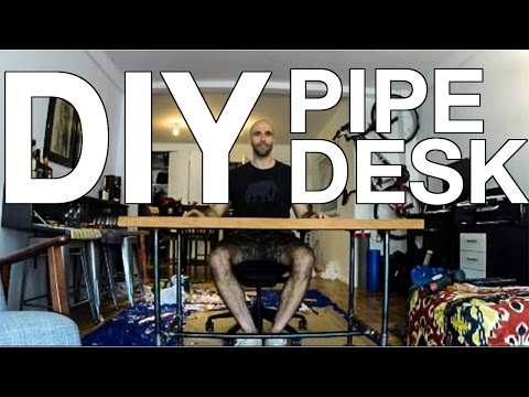 DIY - How to Make a Pipe Desk
