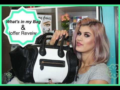Whats in My Bag & Ioffer Review HIT OR MISS? | Celine Luggage Tote