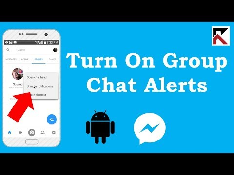How To Turn On Group Conversation Notifications Facebook Messenger