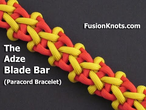 How to Make the Adze Blade Bar, Paracord Bracelet by TIAT
