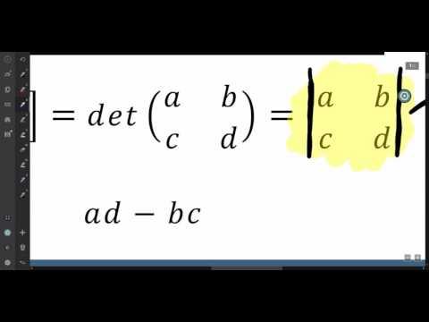 Lesson 4 4:  Determinants of 2x2 Matrices