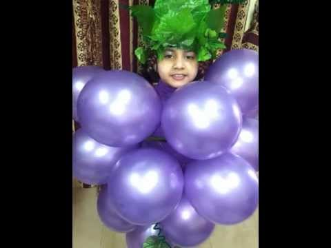 Mahreen Fathima as grapes (Fancy Dress Competition) - U.K.G