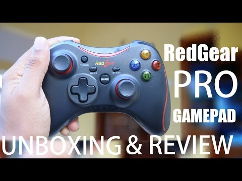 Red gear PRO Gamepad Unboxing and Hands-on Review