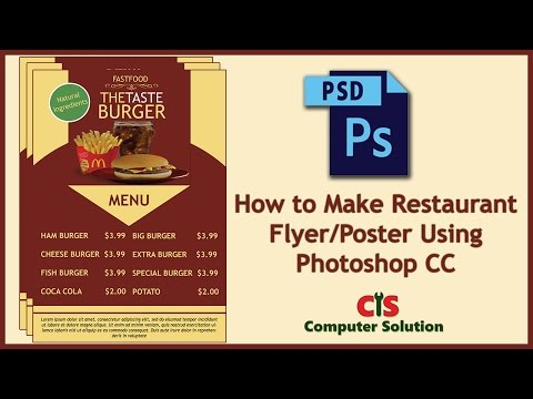 How to Make Restaurant Flyer/Poster Using Photoshop CC